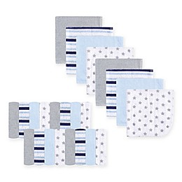 Luvable Friends® 24-Pack Stars and Stripes Washcloths in Blue