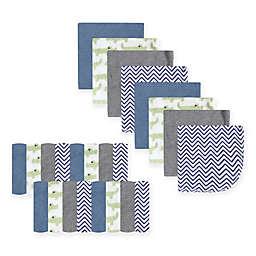 Luvable Friends® 24-Pack Alligator Washcloths in Green