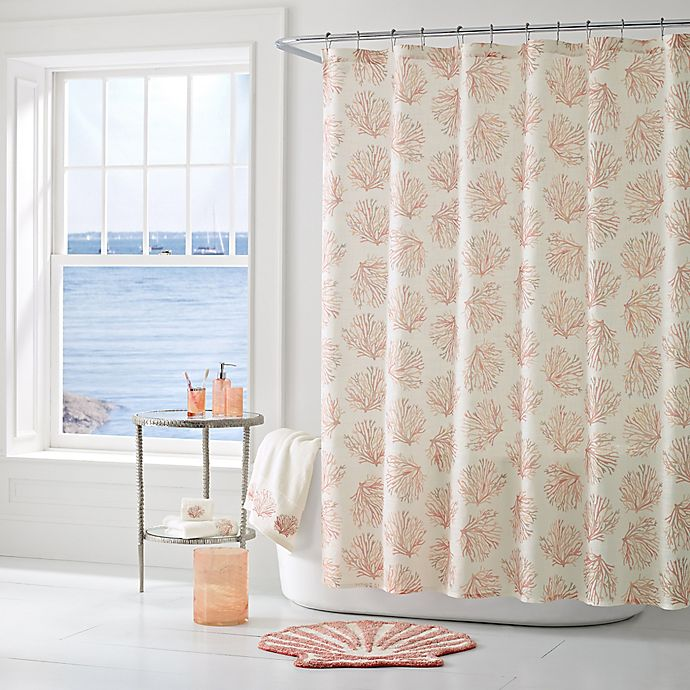 Alternate image 1 for J. Queen New York™ Coral Reef Shower Curtain in Coral
