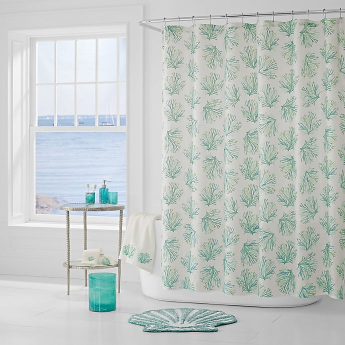 Alternate image 1 for J. Queen New York™ Coral Reef Shower Curtain in Aqua