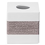 Roselli Trading Castaway Boutique Tissue Box Cover in Grey