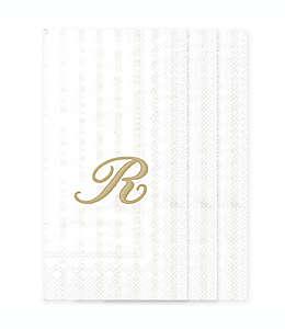 Toallas desechables de papel con letra R en blanco, 32 piezas