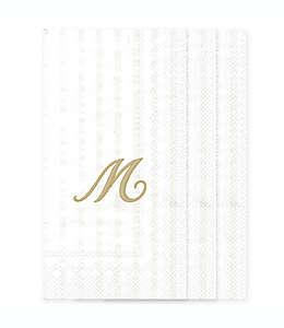 Toallas desechables de papel con letra M en blanco, 32 piezas