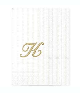 Toallas desechables de papel con letra K en blanco, 32 piezas