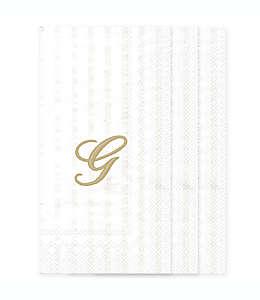 Toallas desechables de papel con letra G en blanco, 32 piezas