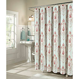 M Style Camo Shower Curtain In Blush