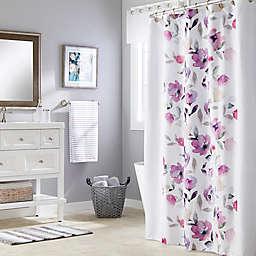 Saturday Knight Garden Mist Shower Curtain in Purple