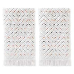 SKL Home Di Di 2-Piece Hand Towel Set in Coral Pink