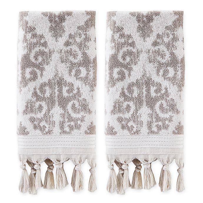 Alternate image 1 for Mirage Fringe Hand Towels (Set of 2)