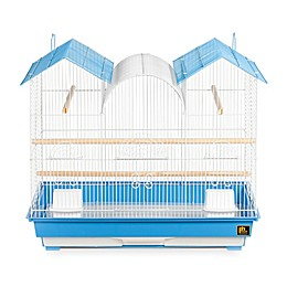 Prevue Pet Products Triple Roof Cockatiel Cage in Blue