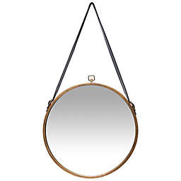 Infinity Instruments Farmhouse Rustic Mirror in Brass