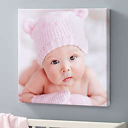 Baby Photo Memories Personalized Square Canvas