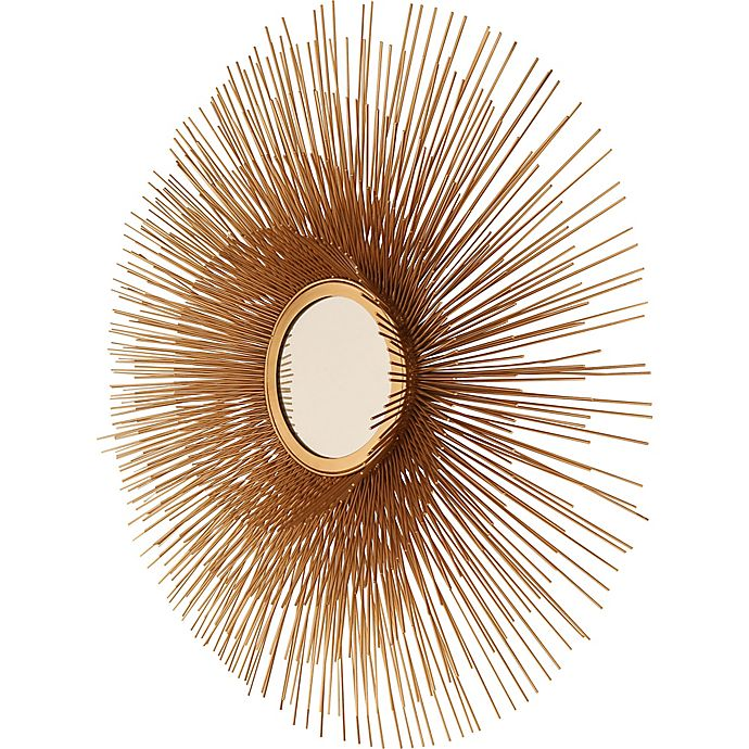 Alternate image 1 for 32-Inch Round Leona Wall Mirror in Light Gold