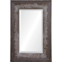 Mykonos 24-Inch x 36-Inch Rectangle Framed Wall Mirror in Brown/Grey