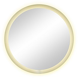 Mansel 36-Inch Round Wall Mirror in Silver