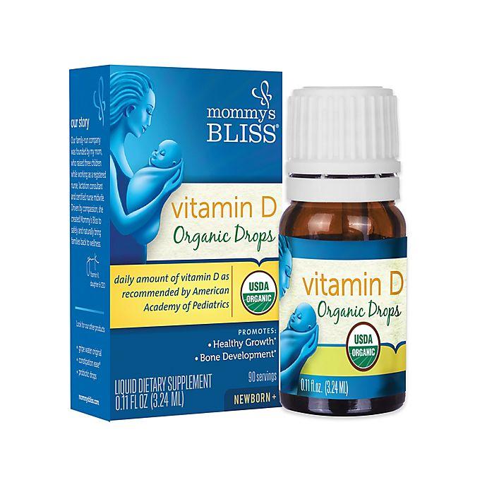 Alternate image 1 for Mommy's Bliss® .11 fl. oz. Baby Vitamin D Organic Drops
