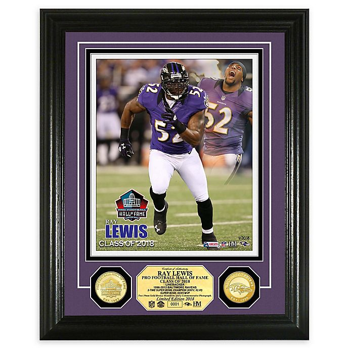 Alternate image 1 for NFL Ray Lewis Hall of Fame Induction Day Bronze Coin Photo Mint