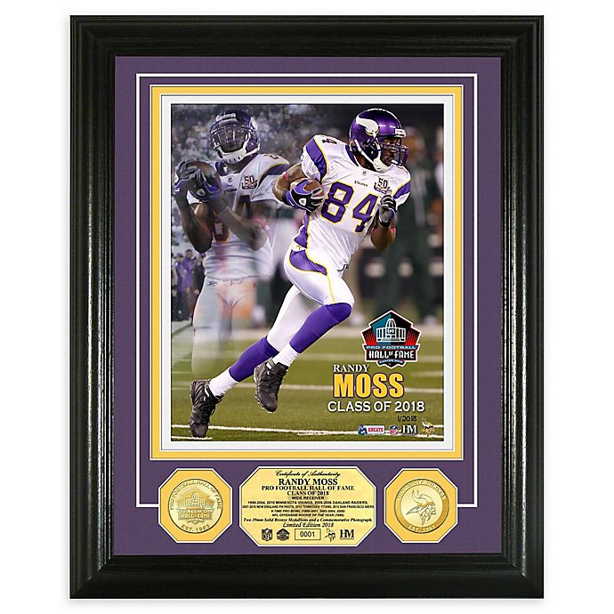 Alternate image 1 for NFL Randy Moss Hall of Fame Induction Day Bronze Coin Photo Mint