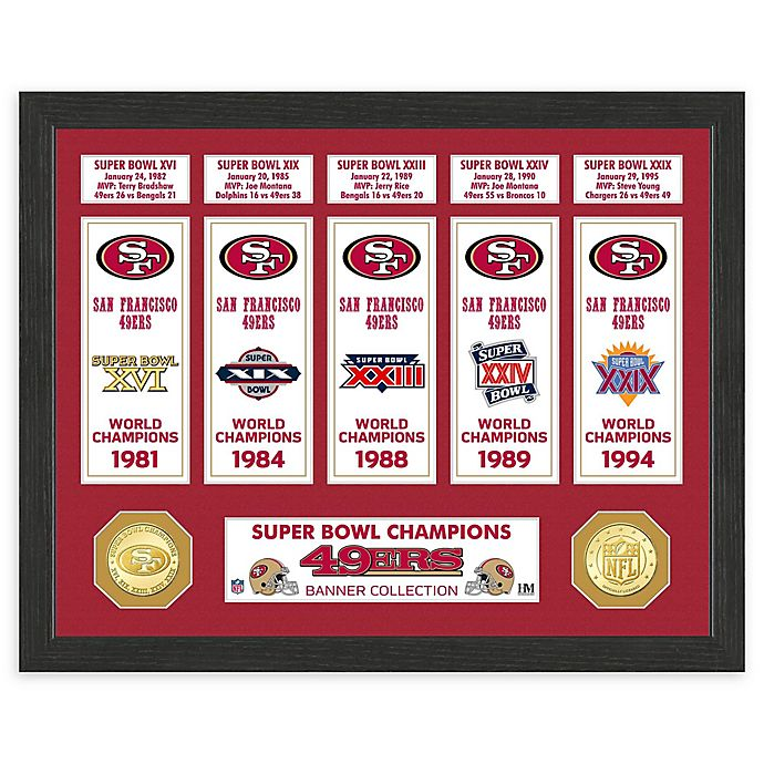 Nfl San Francisco 49ers Super Bowl Champions Banners And