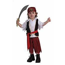 Size 3T-4T Lil Pirate Toddler Halloween Costume