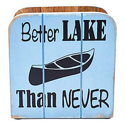 "Thirstystone® ""Better Lake Than Never"" Wood Napkin Holder"