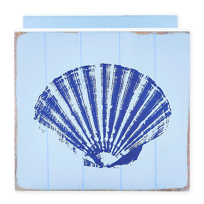 Alternate image 1 for Thirstystone® Seashell Wood Napkin Holder