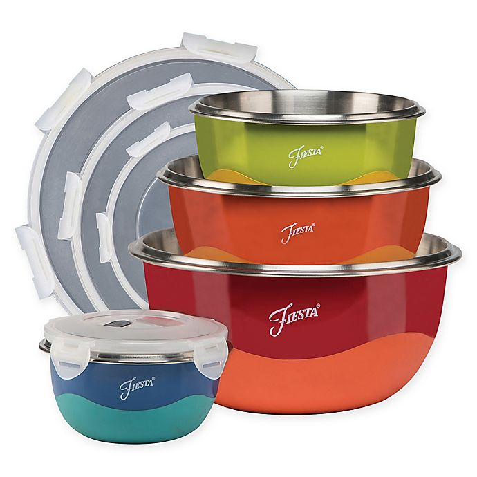 Alternate image 1 for Fiesta® 8-Piece Microwave Safe Mixing Bowl Set