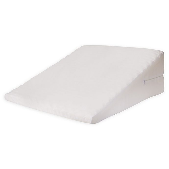 Alternate image 1 for HealthSmart DMI 7-Inch Foam Bed Wedge Back Support Pillow in White