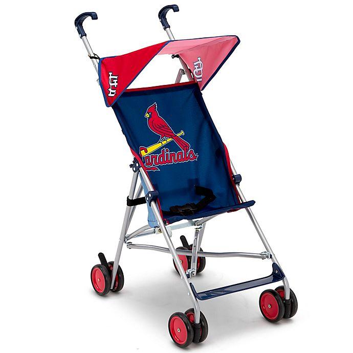 Alternate image 1 for MLB St. Louis Cardinals Lightweight Umbrella Stroller by Delta Children