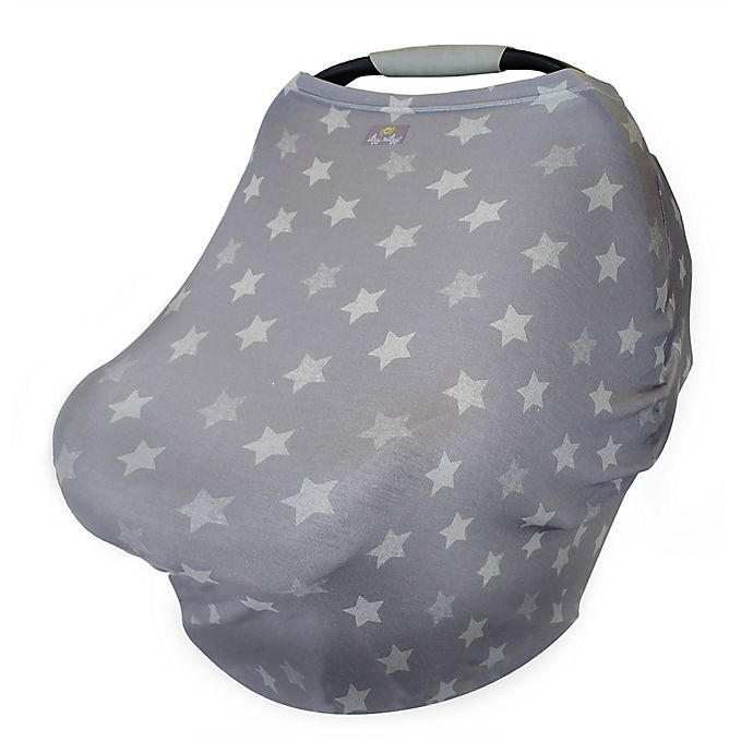 Alternate image 1 for Itzy Ritzy® Mom Boss Multi Use Cover in Grey Stars