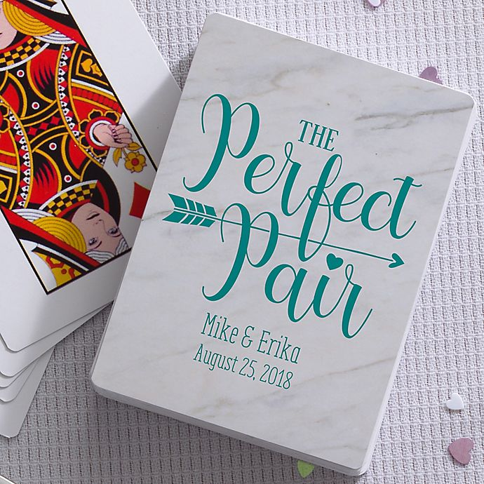 Wedding Pun Personalized Playing Cards Wedding Favors