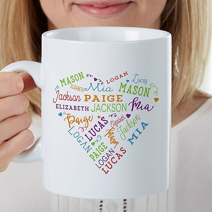 Alternate image 1 for Close to Her Heart Personalized 30 Oz Coffee Mug