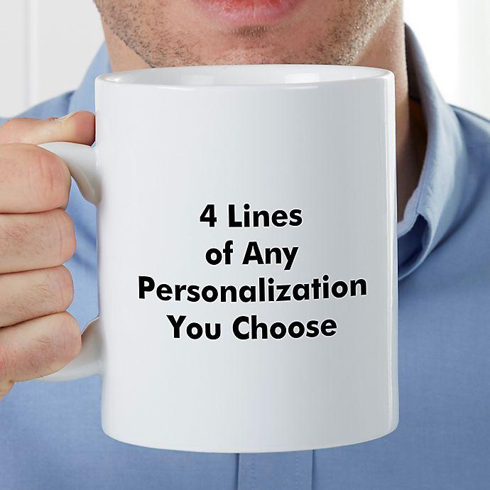 Alternate image 1 for You Name It PZ 30 Oz Coffee Mug