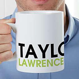 Bold Name Personalized 30 Oz. Oversized Coffee Mug