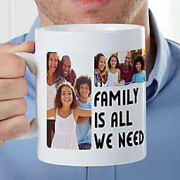 5 Photos Personalized 30oz. Oversized Coffee Mug