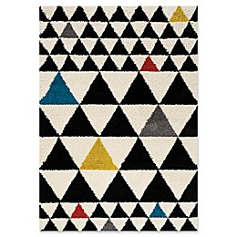 Novelle Home Triangles Area Rug in Black