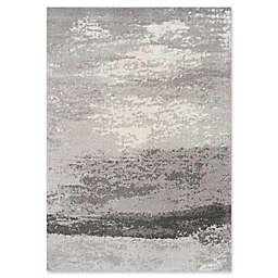 Novelle Home Fog Distressed 6'7 x 9'6 Area Rug in Grey