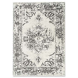 Novelle Home Distressed 6'7 x 9'6 Area Rug in Grey