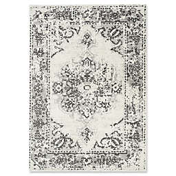 Novelle Home Distressed 7'10 x 10'6 Area Rug in Grey