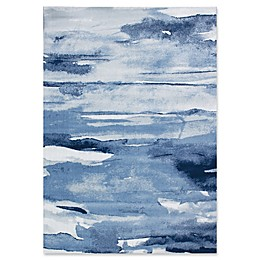 Novelle Home Oil Painting Area Rug in Blue