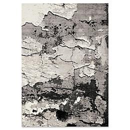 Novelle Home Rock Face Texture Area Rug in Grey