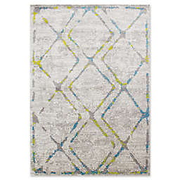 Novelle Home Diamond Area Rug in Blue