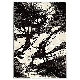 Novelle Home Ink Strokes Area Rug in Brown