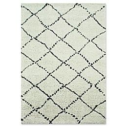Novelle Home Matrique Lattice Area Rug in Grey
