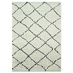 Novelle Home Matrique Lattice Area Rug in Grey