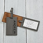 Bold Style Personalized Luggage Tag in Charcoal