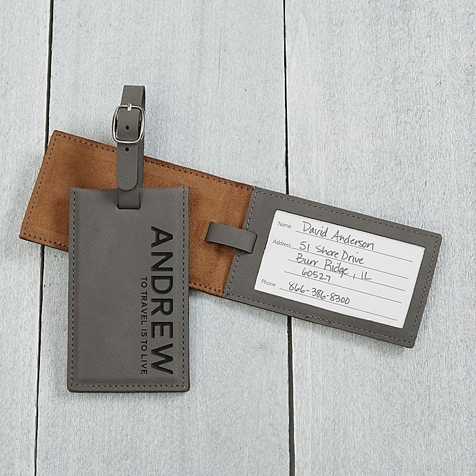 Alternate image 1 for Bold Style Personalized Luggage Tag
