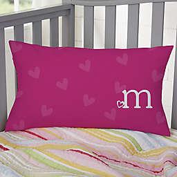 Heart Felt Personalized Lumbar Throw Pillow