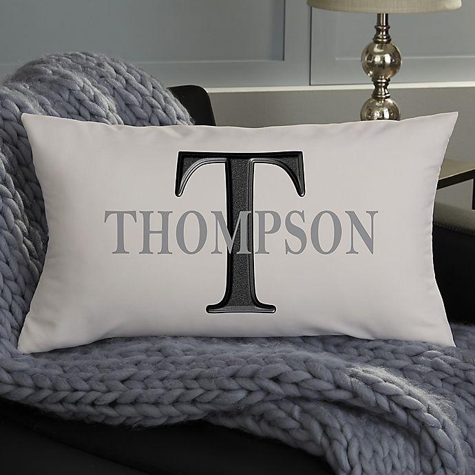 Alternate image 1 for Monogram Personalized Lumbar Throw Pillow