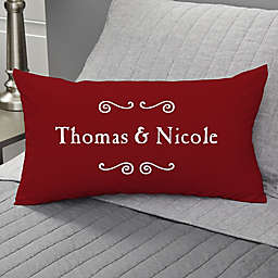 Our Life Together Personalized Lumbar Throw Pillow